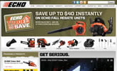 Chain saws, trimmers, brushcutters, edgers, power blowers, tillers,